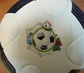 печать фотографии на поверхность футбольного мяча.
