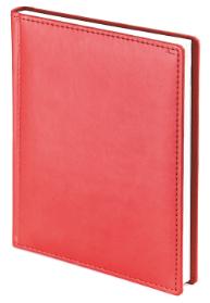 Ежедневник недатированный Velvet, красный