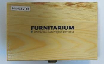 Деревянная коробка с логотипом