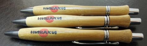 Деревянная ручка с напечатанным логотипом