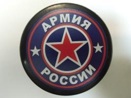 Логотип на хоккейной шайбе